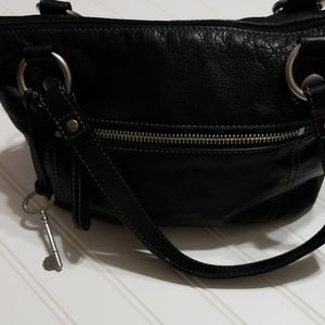 Fossil hand bag black leather